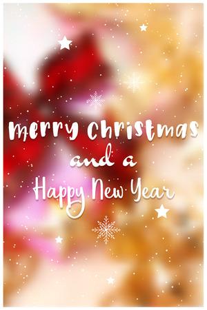 Decorative christmas text on defocussed image Illustration