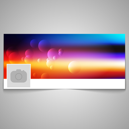 Social media cover with colorful design