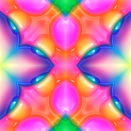 Seamless 3d abstract background with colorful glossy plastic texture Stock Photo