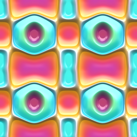 Seamless 3d colorful abstract background