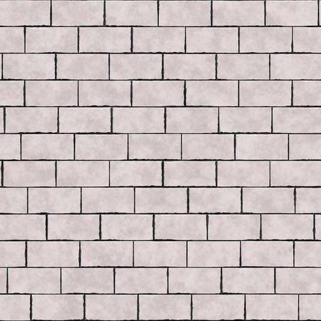 3d illustration of seamless brick wall Stock Photo