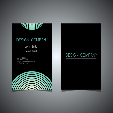 Business card template with an elegant design.
