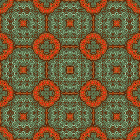 Vintage seamless background with geometrical floral design