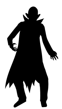 Dracula silhouette isolated on white background