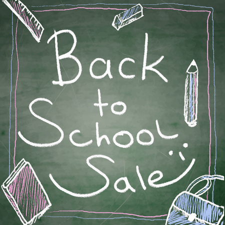 Back to school sale background Illustration