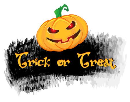 Grunge style halloween background with pumpkin