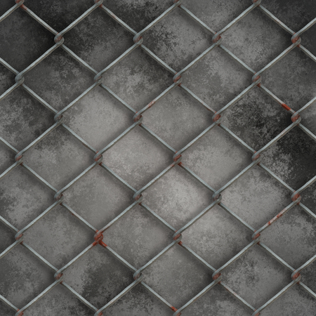 3D render of a wire mesh on grunge background