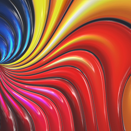 3d Colorful abstract background with plastic effect