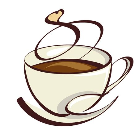 Stylish Coffee Cup  Illustration Isolated on white background