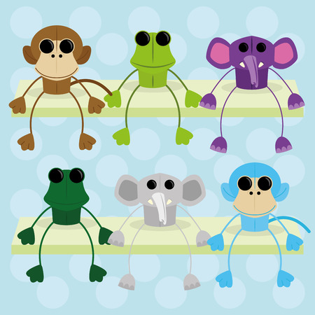Vector Set Of Different Cute Characters Isolated  Vector