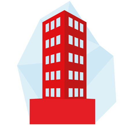 abstract building: Vector Editable Stylish Abstract Building Illustration Isolated