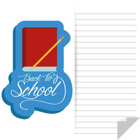 Vector libro y un lápiz con espacio en blanco para el texto