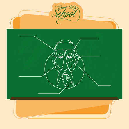 Vector Chalkboard With A Drawing Of man