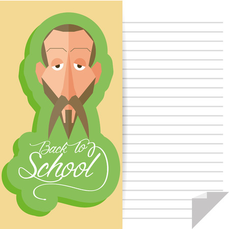 Vector Funny man Portrait Isolated