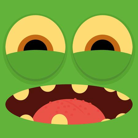 Vector Funny Cartoon Character Face Illustration  Stock Vector - 27180240