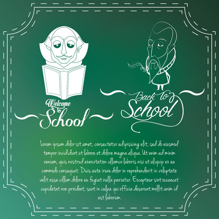 william shakespeare: Vector Set Of Chalkboards Drawing men With Space For Text Illustration