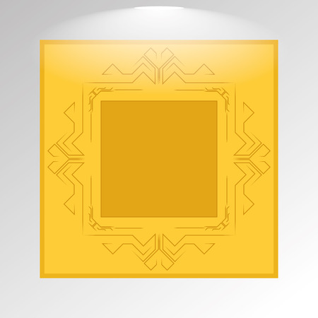 Vector Stylish Golden Framework Isolated On Background  Vector
