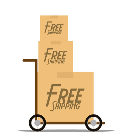 Vector Free Delivery Icon Isolated On White Background  Vector