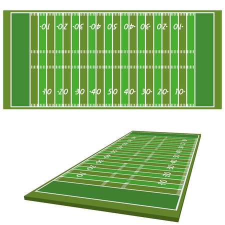 Vector Football Field  Isolated On White Background Vettoriali