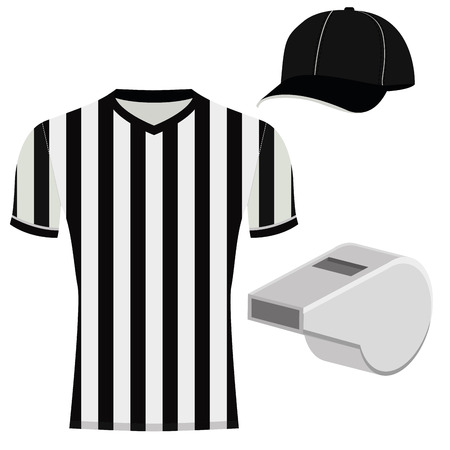 Vector Football Referee Uniform  Isolated On White Background Illustration