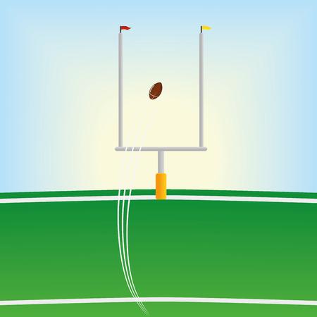 Football Field  Isolated On White Background Ilustração