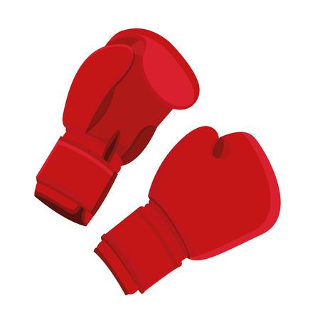 guantes boxeo: Guantes de boxeo Ilustraci�n Aislada En El Fondo Blanco Vectores