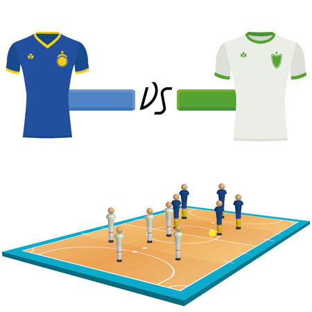 futsal: Set Of Futsal Elements Isolated On White Background