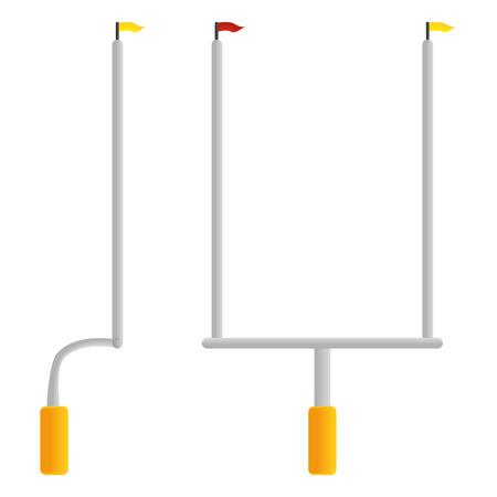 Football Goal Post isolé sur fond blanc Illustration