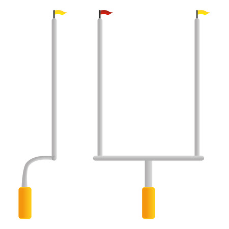 Football Goal Post  Isolated On White Background Illustration