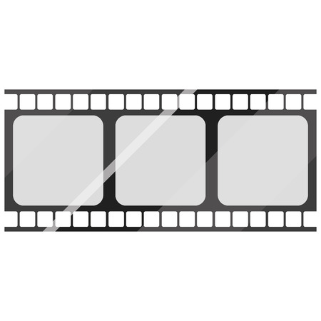 reel to reel: Film Stock Icon Isolated On White Background Illustration