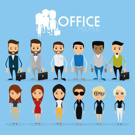 persona confundida: Conjunto de caracteres divertidos de la oficina aisladas en el fondo