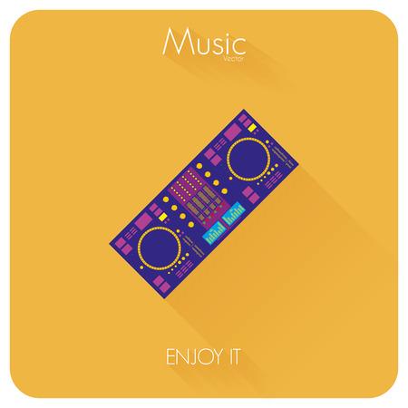 magnetofon: Dyktafon kolorowe abstrakcyjna samodzielnie na kolor tła Ilustracja