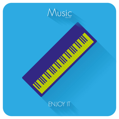 synthesizer: Abstract Colorful Synthesizer Isolated On Color Background