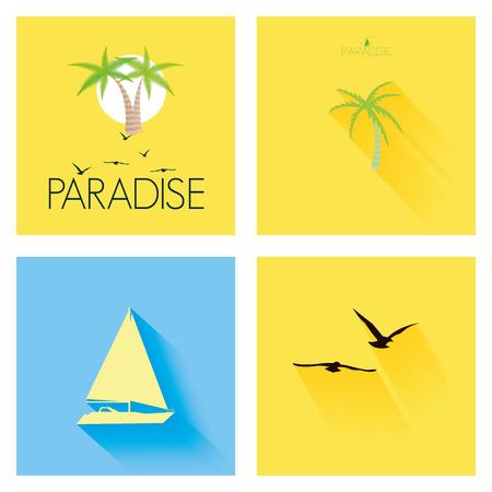 kumpel: Verschiedene Sommer-Ferien-Vorlagen F�r Hintergrund Illustration