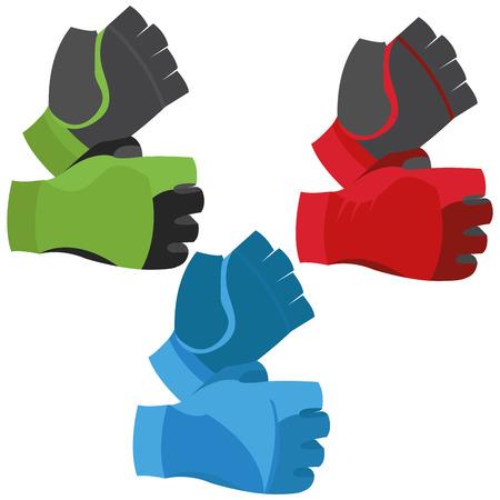 fingerless gloves: Fingerless Gloves Illustration Isolated On White Background