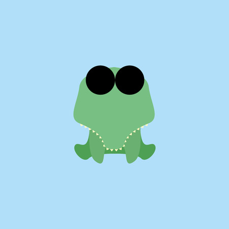 Adorable Cartoon crocodile  Isolated On Background Vector
