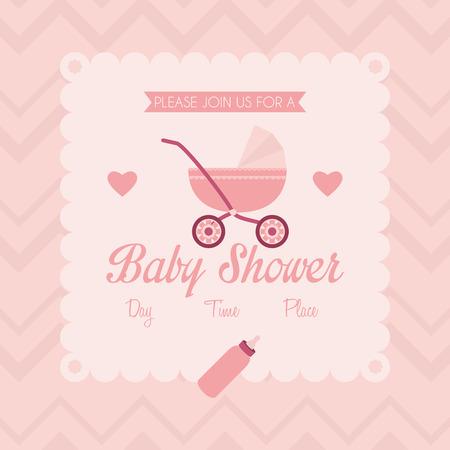 Baby Shower Template Card Illustration Editable