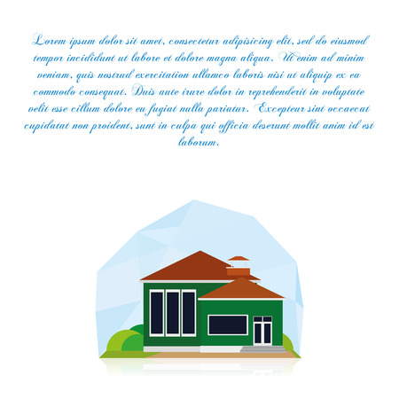 Building Isolated On White Background With Space For Text Vector