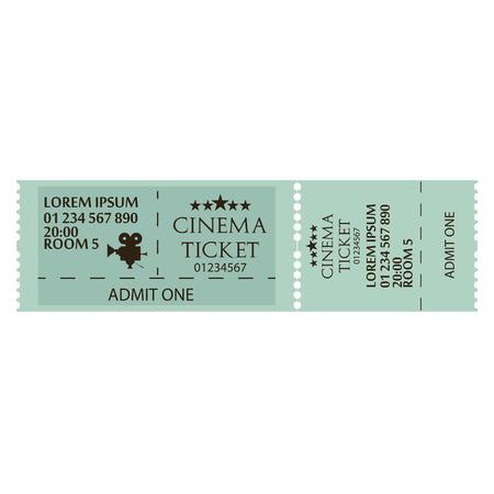 Cinema Ticket Icon Isolated On White Background Ilustração