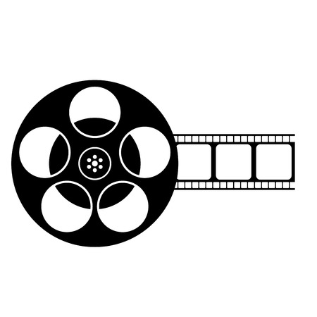 Set Of Black And White Movie Related Icons Royalty Free Cliparts