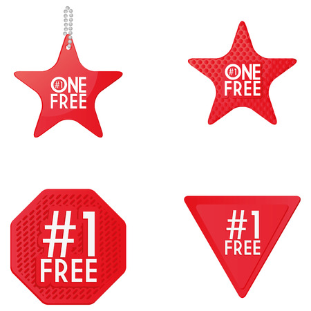 Set Of Free Icons Isolated On White Background Vector