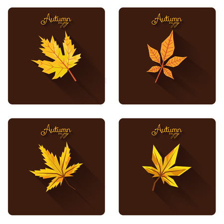 Set Of Different Abstract Autumn Backgrounds Vector