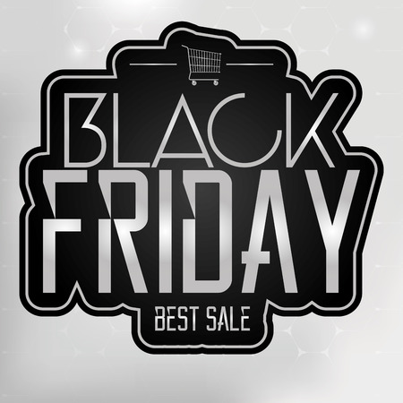 Vector Black Friday Sticker Isolated On Background Vector