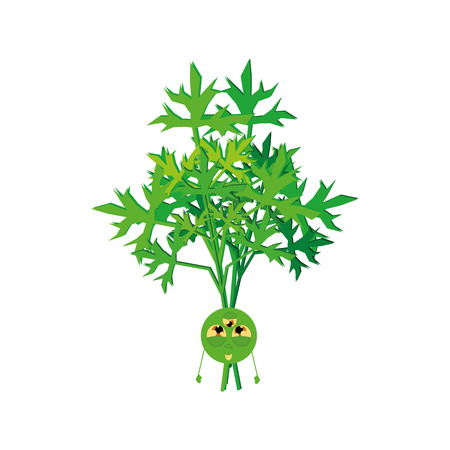 weird: an isolated weird happy vegetable on a white background