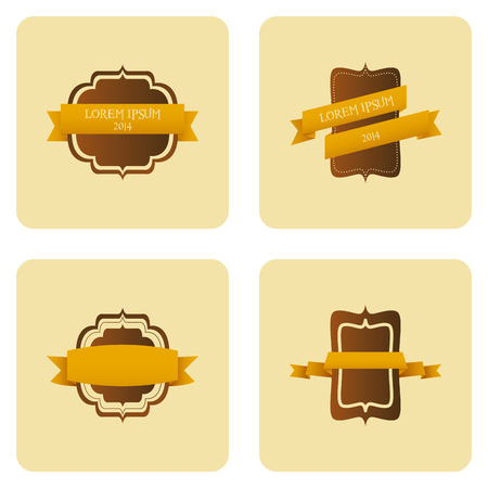 Vector Set Of Vintage Stylish Labels Isolated On Background Vector
