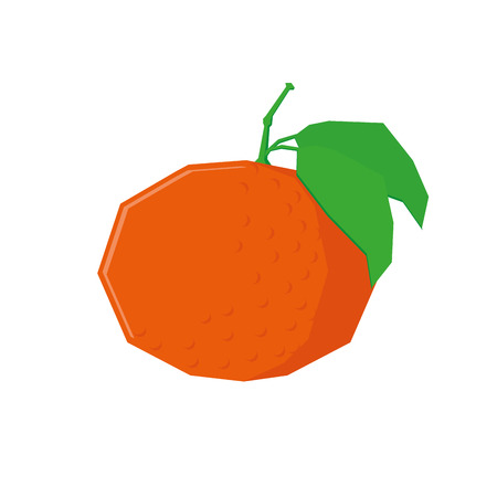 tangerine: an isolated tangerine on a white background