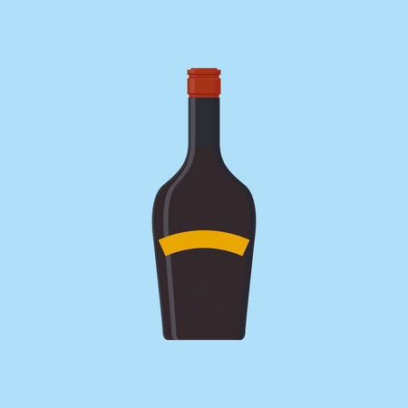 whiskey bottle: an isolated purple bottle on a blue background