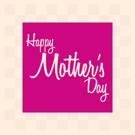 a light yellow background with pink text for mothers day Vector