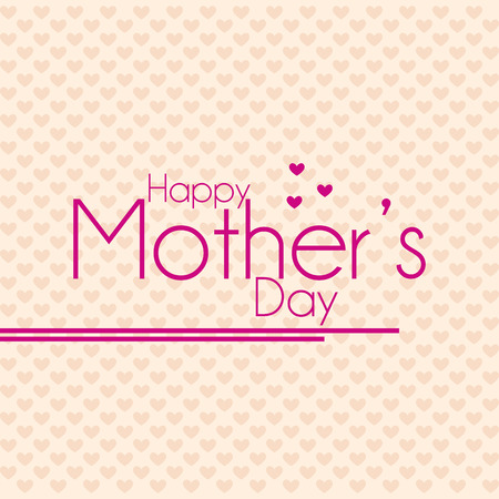 a light yellow background with pink text for mothers day