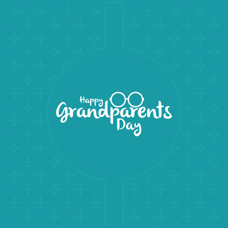 happy people white background: a blue background with white text for grandparents day Illustration